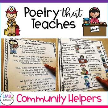 Community Helpers Poetry Comprehension and Poetry Centers