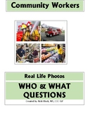 Community Workers Real Photos - Who & What Questions