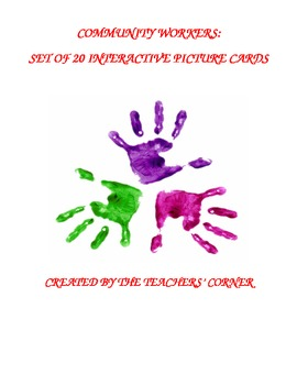 Community Workers: Set of 20 Interactive Picture Cards