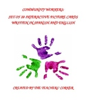 Community Workers: Set of 20 Interactive Picture Cards in Spanish and English