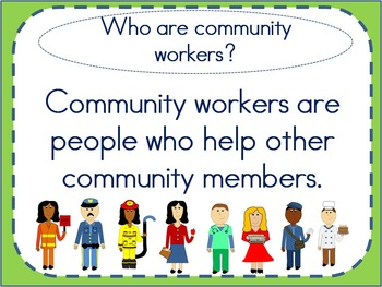 Community Workers Unit: Writing Activities, Passages, and Worksheets (K-2)