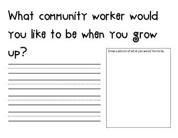 "Community Workers ~  ""When I Grow Up"""