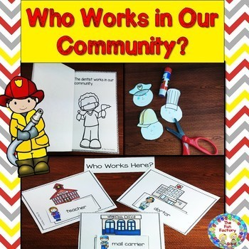 Community Helpers Thematic Unit {PK-1} ~ Centers and  Worksheets