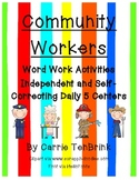 Community Workers Word Work Activities