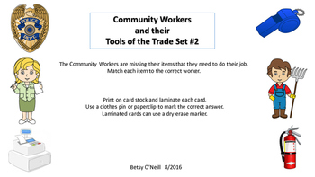 Community Workers and their Tools of the Trade Set #2