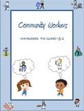 Community Workers / Helpers - Worksheets for Grade 1 & 2 /