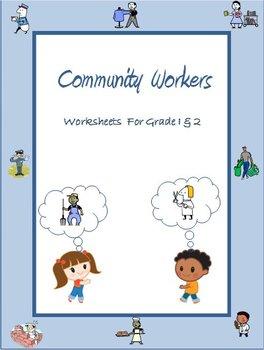 Community Workers / Helpers - Worksheets for Grade 1 & 2