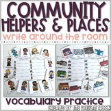 Community Helpers and Places Vocabulary Practice - Write the Room