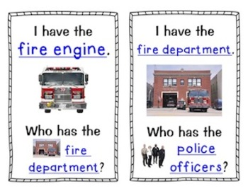 Community and Community Helpers - I Have, Who Has