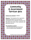 Community and Government Services Review Guide and Assessment