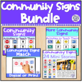 Community and Safety Signs Bundle Special Education