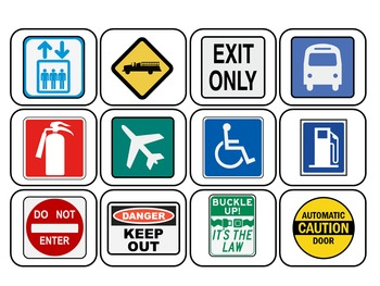 Community and Safety Signs Memory