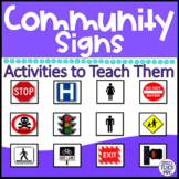 Distance Learning Community and Safety Signs: Special Education