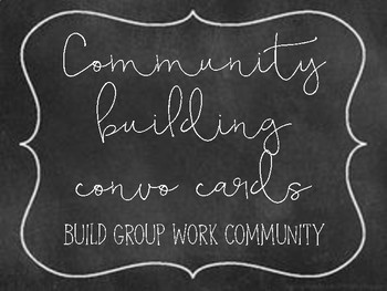 Community building convo cards for groups & partners