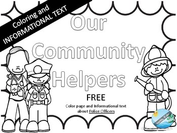 Police Officer Coloring Page Teaching Resources | Teachers Pay Teachers
