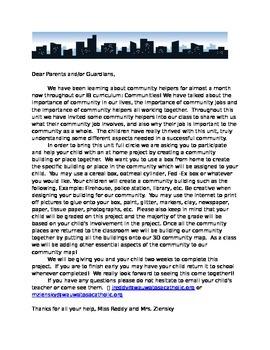 Community helper project information sheet