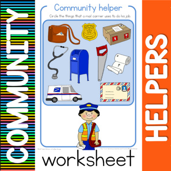 Community Helper Worksheets By Little Blue Orange Tpt