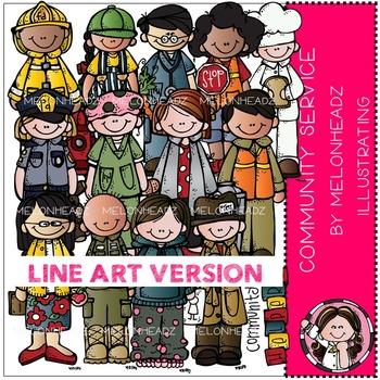 Melonheadz: Community service clip art - LINE ART