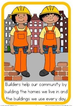 Community helpers book - builders