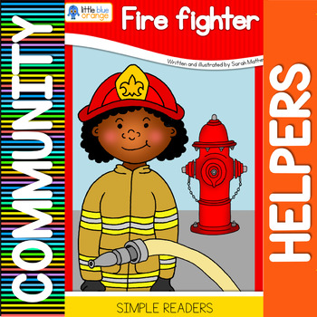 Community helpers book -  fire fighter