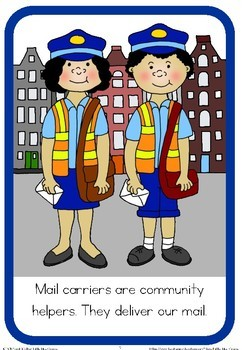 Community helpers book - mail carrier