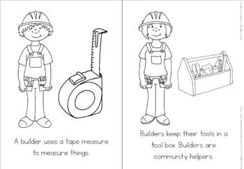 Community helpers coloring book - builders by Little Blue Orange