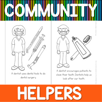 Community helpers coloring book - dentist