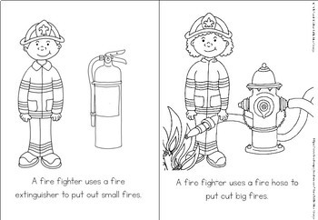 Community helpers coloring book - fire fighter
