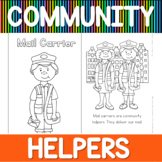 Community helpers coloring book - mail carrier