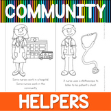 Community helpers coloring book - nurse