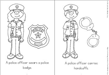Community helpers coloring book - police officer