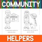 Community helpers coloring book - veterinarian
