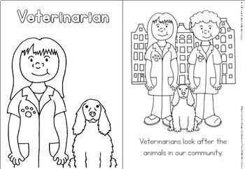 Community helpers coloring book - veterinarian by Little Blue Orange