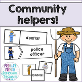 Community helpers - flashcards, word wall cards, and games
