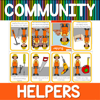 Community helpers mini book - builders