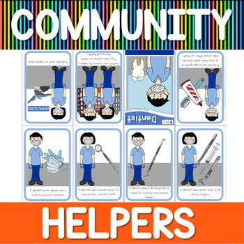 Community helpers mini book - dentist