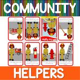 Community helpers mini book - fire fighter