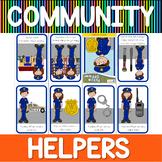 Community helpers mini book - police