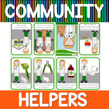 Community helpers mini book - veterinarian