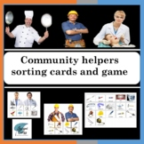 Community helpers sort and match boards