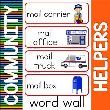 Community helpers word wall