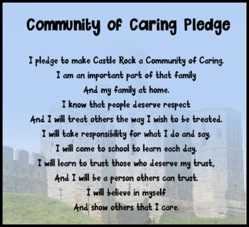 Community of Caring Pledge to Promote a Growth Mindset