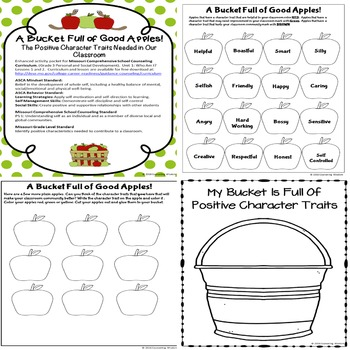 A Bucket of Good Apples: Positive Classroom Character Traits