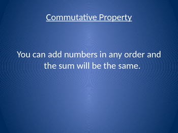 Commutative & Associative Properties in Addition