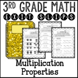 Commutative, Associative, and Distributive Properties Exit Slips 3rd Grade