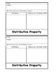 Commutative, Associative and Distributive Property- ISN Foldable