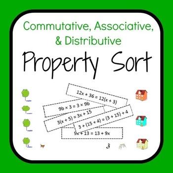 Commutative, Associative, and Distributive Property Sort