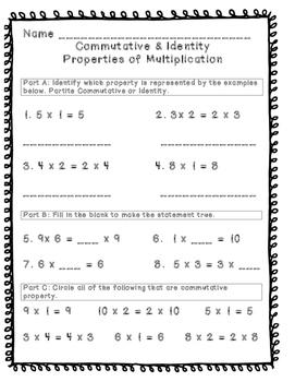 Commutative & Identity Property