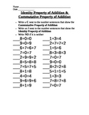 Commutative & Identity Property of Addition -  increased r