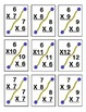 Commutative Multiplication Flashcards - Facts 0-12 (90 Cards)